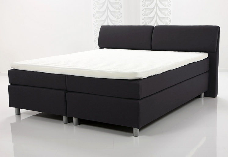 mj lvik boxspringbett von ikea federkernmatratze topper. Black Bedroom Furniture Sets. Home Design Ideas