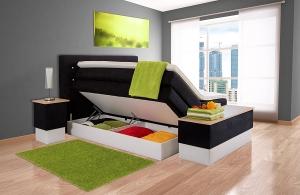 boxspringbett sophie mit bettkasten von aukona 7zonen taschenfeder. Black Bedroom Furniture Sets. Home Design Ideas